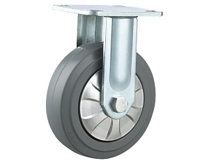 Heavy Duty Caster Thermoplastic Rubber wheel Rigid